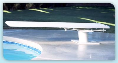 Inter-Fab 8' Techni-Beam Diving Board Including Techni-Spring Steel Dive Stand