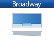 San Juan Broadway (White or Sully Blue)